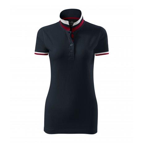 Dámské triko s límečkem MALFINI PREMIUM COLLAR UP 257 DARK NAVY