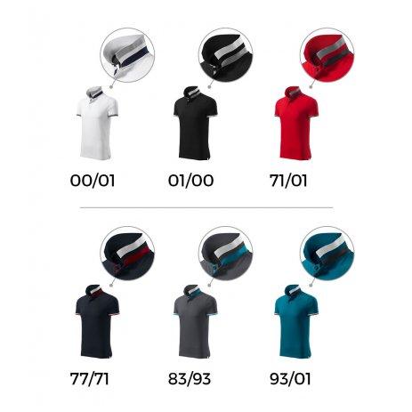 Pánské triko s límečkem MALFINI PREMIUM COLLAR UP 256 PETROLEJOVÁ