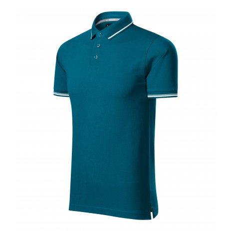 Pánské triko s límečkem MALFINI PREMIUM PERFECTION PLAIN 251 PETROLEJOVÁ