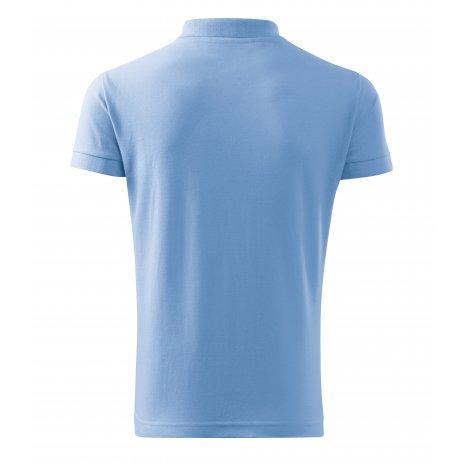 Pánské triko s límečkem MALFINI HEAVY 215 NEBESKY MODRÁ
