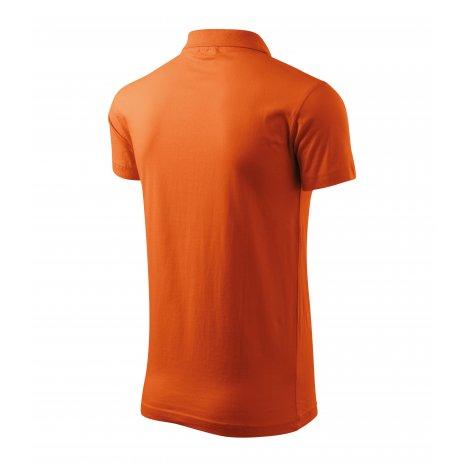 Pánské triko s límečkem MALFINI SINGLE J. 202 ORANŽOVÁ