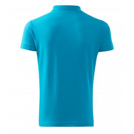 Pánské triko s límečkem MALFINI COTTON 212 TYRKYSOVÁ