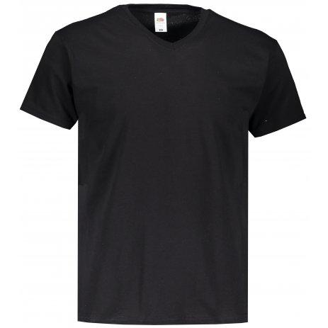 Pánské triko FRUIT OF THE LOOM ORIGINAL V-NECK T BLACK
