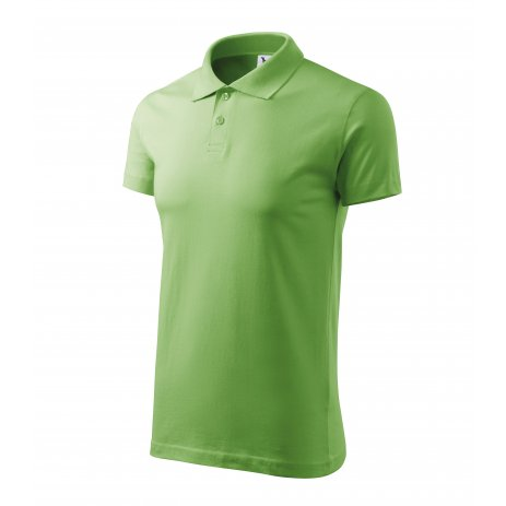 Pánské triko s límečkem MALFINI SINGLE J. 202 TRÁVOVĚ ZELENÁ