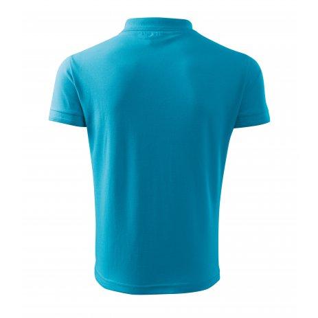 Pánské triko s límečkem MALFINI PIQUE POLO 203 TYRKYSOVÁ