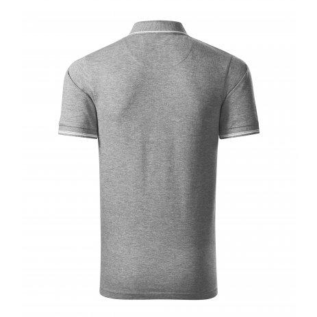 Pánské triko s límečkem MALFINI PREMIUM PERFECTION PLAIN 251 TMAVĚ ŠEDÝ MELÍR