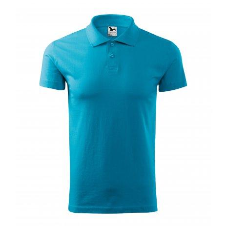 Pánské triko s límečkem MALFINI SINGLE J. 202 TYRKYSOVÁ