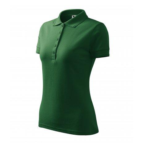 Dámské triko s límečkem MALFINI PIQUE POLO 210 LAHVOVĚ ZELENÁ