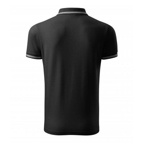 Pánské triko s límečkem MALFINI URBAN 219 ČERNÁ