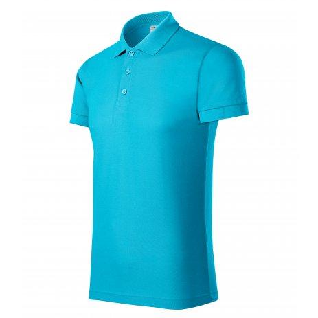 Pánské triko s límečkem PICCOLIO JOY P21 TYRKYSOVÁ