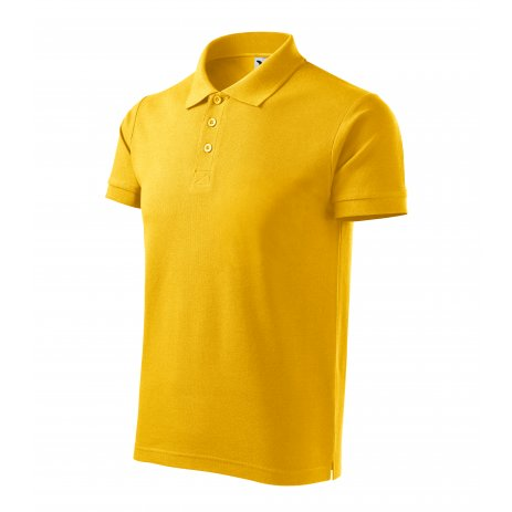 Pánské triko s límečkem MALFINI COTTON 212 ŽLUTÁ
