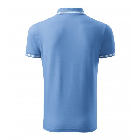 Pánské triko s límečkem MALFINI URBAN 219 NEBESKY MODRÁ