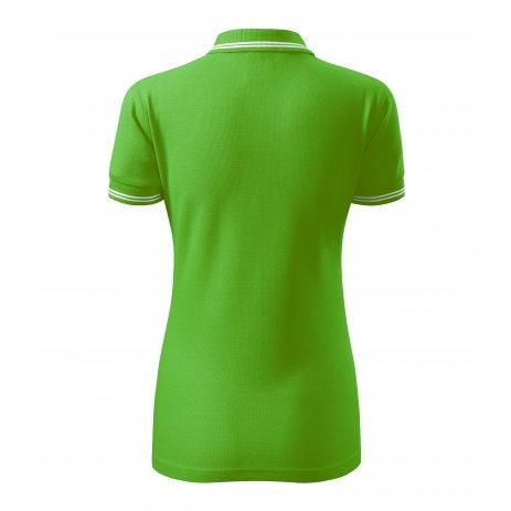 Dámské triko s límečkem MALFINI URBAN 220 APPLE GREEN