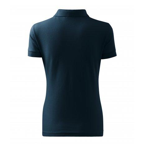 Dámské triko s límečkem MALFINI HEAVY 216 NÁMOŘNÍ MODRÁ