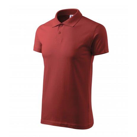 Pánské triko s límečkem MALFINI SINGLE J. 202 BORDÓ