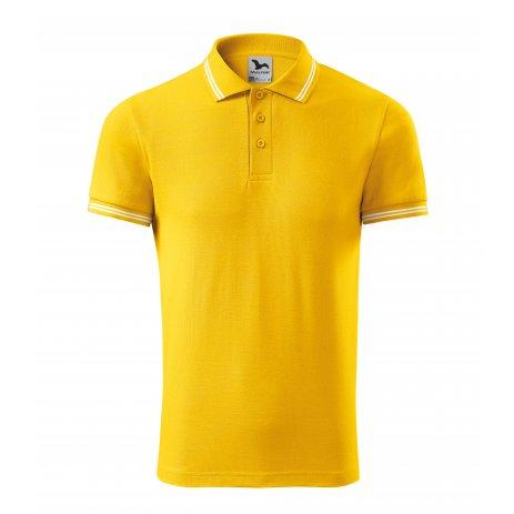 Pánské triko s límečkem MALFINI URBAN 219 ŽLUTÁ