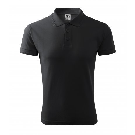 Pánské triko s límečkem MALFINI PIQUE POLO 203 EBONY GRAY