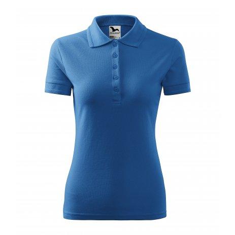 Dámské triko s límečkem MALFINI PIQUE POLO 210 AZUROVĚ MODRÁ