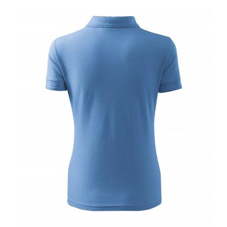 Dámské triko s límečkem MALFINI PIQUE POLO 210 NEBESKY MODRÁ