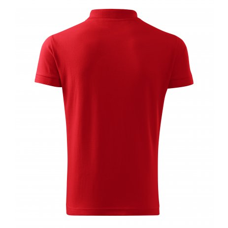Pánské triko s límečkem MALFINI HEAVY 215 ČERVENÁ