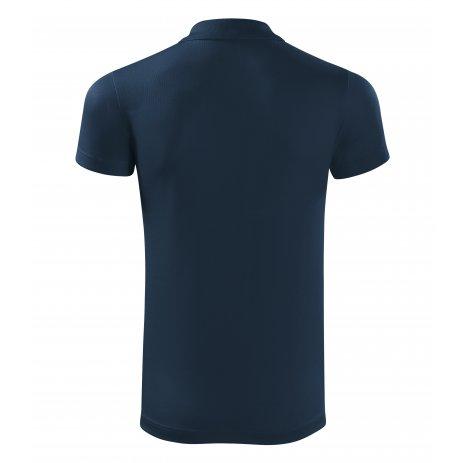 Pánské funkční triko s límečkem MALFINI VICTORY 217 NÁMOŘNÍ MODRÁ