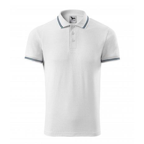 Pánské triko s límečkem MALFINI URBAN 219 BÍLÁ