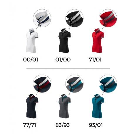 Dámské triko s límečkem MALFINI PREMIUM COLLAR UP 257 LIGHT ANTHRACITE