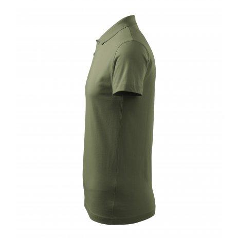 Pánské triko s límečkem MALFINI SINGLE J. 202 KHAKI