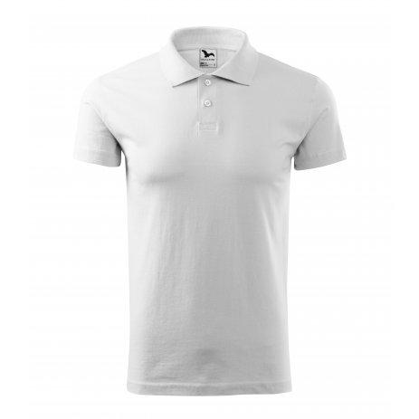 Pánské triko s límečkem MALFINI SINGLE J. 202 BÍLÁ