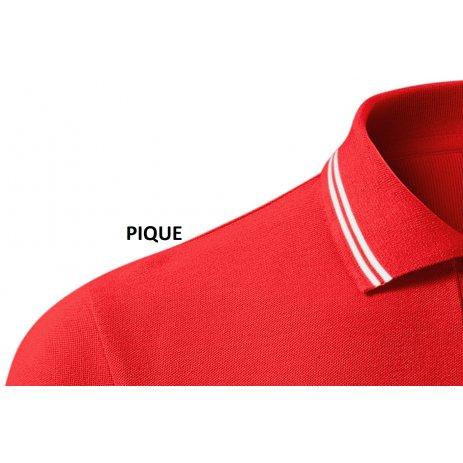 Dámské triko s límečkem MALFINI URBAN 220 ČERVENÁ