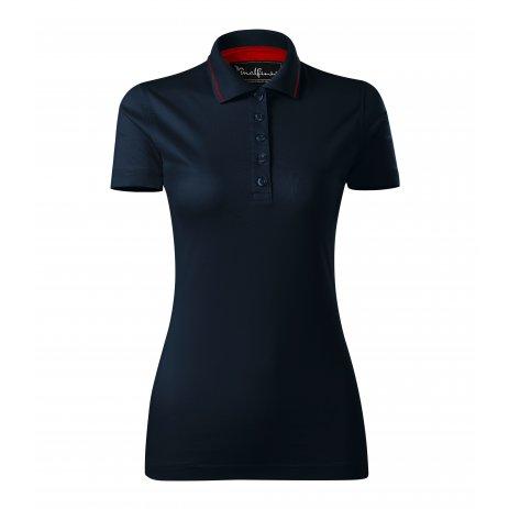 Dámské triko s límečkem MALFINI PREMIUM GRAND 269 NÁMOŘNÍ MODRÁ