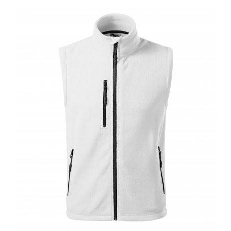Pánská fleecová vesta MALFINI EXIT 525 BÍLÁ