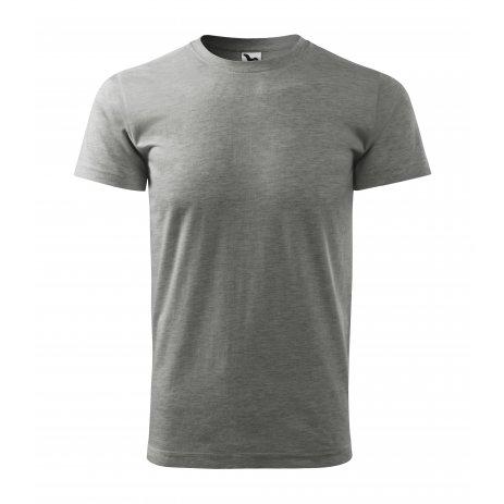 Pánské triko MALFINI BASIC 129 TMAVĚ ŠEDÝ MELÍR
