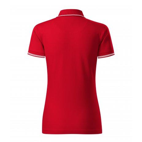 Dámské triko s límečkem MALFINI PREMIUM PERFECTION PLAIN 253 FORMULA RED