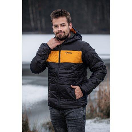 Pánská bunda ALTISPORT GEDON MJCS468 ČERNOŽLUTÁ
