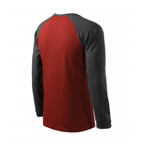 Pánské triko s dlouhým rukávem MALFINI STREET LS 130 MARLBORO ČERVENÁ