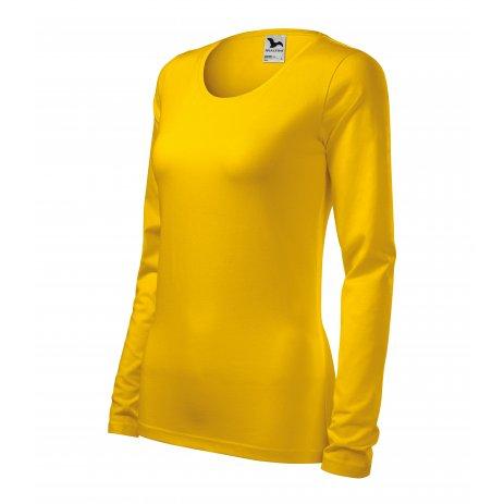 Dámské triko s dlouhým rukávem MALFINI SLIM 139 ŽLUTÁ