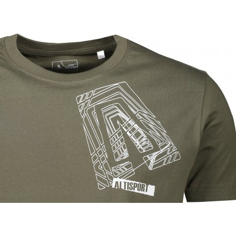 Pánské triko ALTISPORT ALM000JN790 OLIVOVÁ