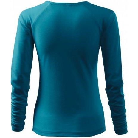 Dámské triko s dlouhým rukávem MALFINI ELEGANCE 127 TMAVÝ TYRKYS