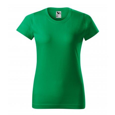 Dámské triko MALFINI BASIC 134 STŘEDNĚ ZELENÁ