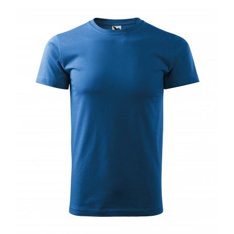 Pánské triko MALFINI BASIC 129 AZUROVĚ MODRÁ
