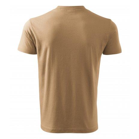 Pánské triko MALFINI V-NECK 102 PÍSKOVÁ
