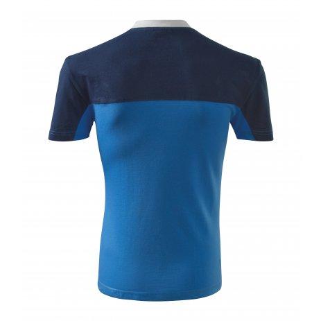 Pánské triko MALFINI COLORMIX 109 AZUROVĚ MODRÁ