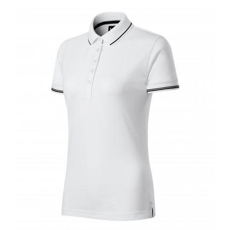 Dámské triko s límečkem MALFINI PREMIUM PERFECTION PLAIN 253 BÍLÁ