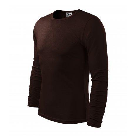 Pánské triko s dlouhým rukávem MALFINI FIT-T LS 119 KÁVOVÁ