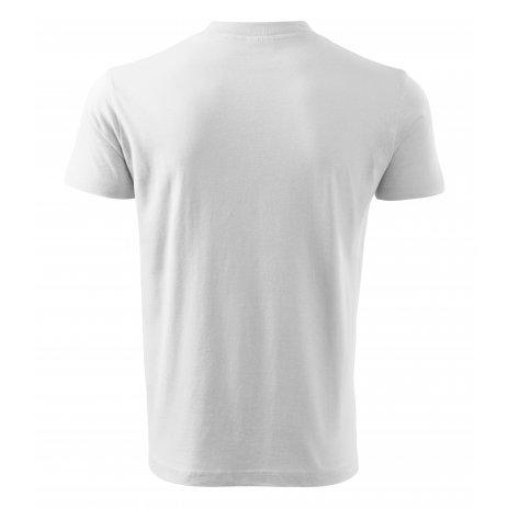 Pánské triko MALFINI V-NECK 102 BÍLÁ