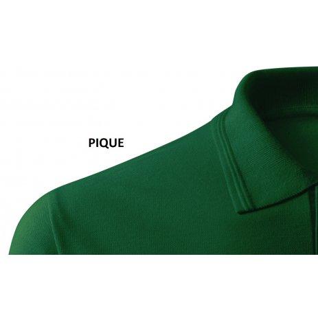 Pánské triko s dlouhým rukávem a límečkem MALFINI PIQUE POLO LS 221 LAHVOVĚ ZELENÁ