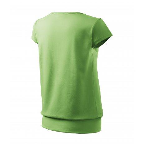 Dámské triko MALFINI CITY 120 TRÁVOVĚ ZELENÁ
