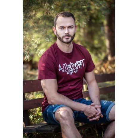 Pánské triko ALTISPORT FRRAN MTSS569 VÍNOVÁ