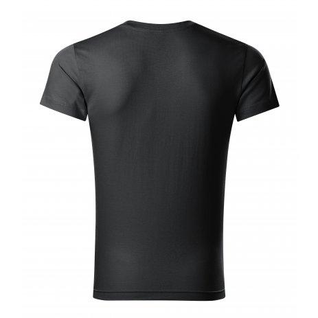 Pánské triko MALFINI SLIM FIT V-NECK 146 EBONY GRAY